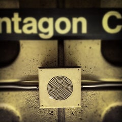 Photo taken at Pentagon City Metro Station by kate i. on 4/10/2012