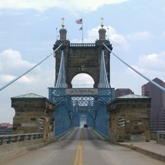 Photo taken at John A. Roebling Suspension Bridge by El Random H. on 7/23/2012