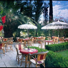 Photo taken at Chateau Marmont Restaurant Patio by Party Earth on 4/4/2012