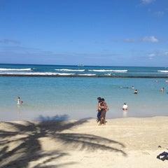 Photo taken at Waikiki Beach Walls by k on 7/8/2012