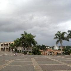 Photo taken at Plaza España by ☀ Alexandra Leto on 3/9/2012