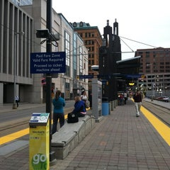 Photo taken at Nicollet Mall LRT Station by Cindy C. on 3/20/2012