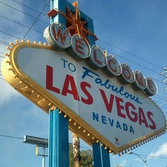 Photo taken at Welcome To Fabulous Las Vegas Sign by Nikki Z. on 4/2/2012