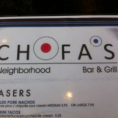 Photo taken at Chofas Sports Bar & Grill by Tony B. on 4/14/2012