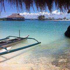 Photo taken at Bluewater Maribago Beach Resort by Donna G. on 4/22/2012
