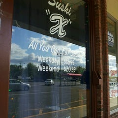 Photo taken at Sushi X: All You Can Eat Sushi by Crystal S. on 5/10/2012