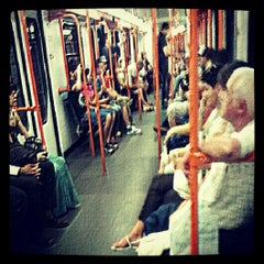 Photo taken at Metro Furio Camillo (MA) by Claudia on 7/5/2012