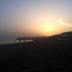 Photo taken at Playa Rincón de la Victoria by Vanessa on 8/19/2012