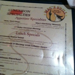 Photo taken at Mac's Grill by Missy L. on 6/7/2012