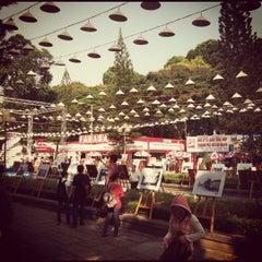 Photo taken at Le Van Tam Park by Nick C. on 3/22/2012