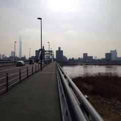 Photo taken at 四つ木橋 by Taejin E. on 3/6/2012
