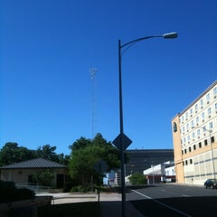 Photo taken at Moonlight Tower (11th & Trinity) by Jim C. on 4/21/2012
