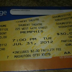 Photo taken at Memphis - the Musical by Linda T. on 8/1/2012