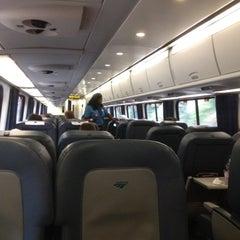 Photo taken at Amtrak Acela 2173 by Jordan S. on 9/6/2012