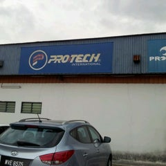 Photo taken at Protech International Badminton by Syaizul H. on 4/9/2012