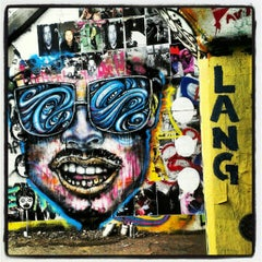 Photo taken at Krog Street Tunnel by Aja M. on 9/7/2012