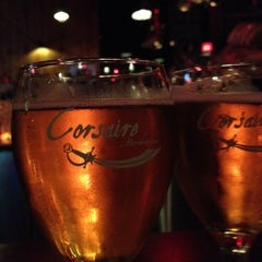 Photo taken at Corsaire Microbrasserie by Simon V. on 6/16/2012