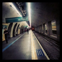 Photo taken at Estação Vila Mariana (Metrô) by Cacau F. on 5/2/2012