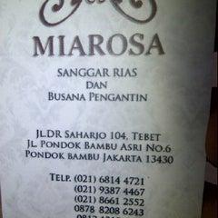 Photo taken at Miarosa Sanggar Rias Penganten by Irfan K. on 4/29/2012