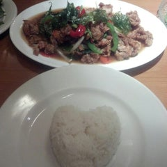 Photo taken at My Thai Cafe by Anitra H. on 8/17/2012