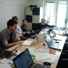Photo taken at Wikimedia Sverige by Jan A. on 2/26/2012