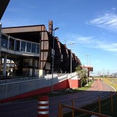 Photo taken at Estação Santo Amaro (CPTM) by Evandro  ∞. on 7/29/2012