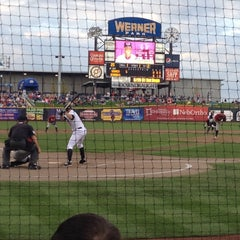 Photo taken at Werner Park by Nicky P. on 8/19/2012