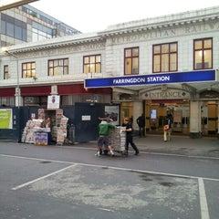 Photo taken at Farringdon London Underground Station by Yury V. on 6/21/2012