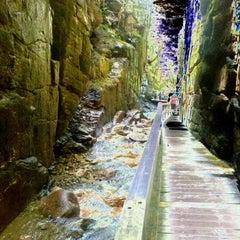 Photo taken at Flume Gorge by Kim U. on 5/19/2012