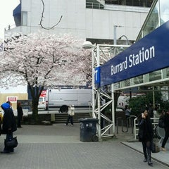 Photo taken at Burrard SkyTrain Station by Rafael G. on 4/5/2012