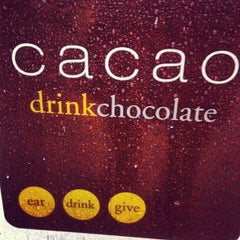 Photo taken at Cacao Drink Chocolate by ROmary on 3/3/2012