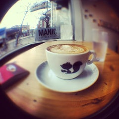 Photo taken at Manic Coffee by Lauren W. on 4/16/2012