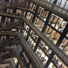 Photo taken at NYU Bobst Library by Smriti P. on 5/7/2012