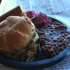 Photo taken at Blue Ribbon BBQ by Mike L. on 2/12/2012
