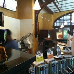 Photo taken at Einstein Bros Bagels by Bill D. on 5/20/2012