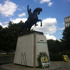 Photo taken at José de San Martin Memorial / Triangle Park by Steven M. on 8/18/2012