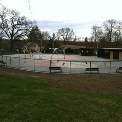 Photo taken at Greenwood St Sprinkler Park by Andrew C. on 4/8/2012