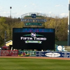 Photo taken at Fifth Third Ballpark by Ryan B. on 4/9/2012