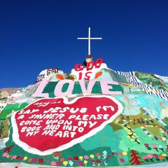 Photo taken at Salvation Mountain by Natalie J. on 8/27/2012