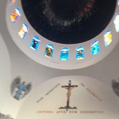 Photo taken at Santuário Basílica do Divino Pai Eterno by Alexandre M. on 6/1/2012