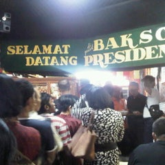 Photo taken at Bakso President by Rachmad K. on 8/20/2012