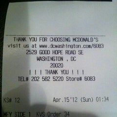 Photo taken at McDonald's by Lymar C. on 4/15/2012
