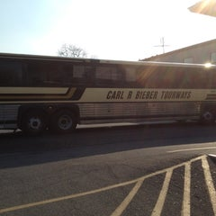 Photo taken at Bieber Bus Terminal by Beau B. on 4/16/2012