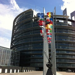 Photo taken at Parlement Européen by Helene S. on 6/8/2012