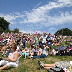 Photo taken at London 2012 venue - Hadleigh Farm by Kevin C. on 8/12/2012