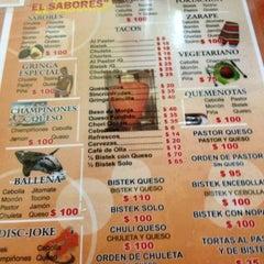 Photo taken at Tacos El Sabores by Erick V. on 5/20/2012