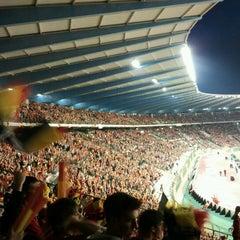 Photo taken at Koning Boudewijnstadion / Stade Roi Baudouin by Jarno O. on 9/11/2012