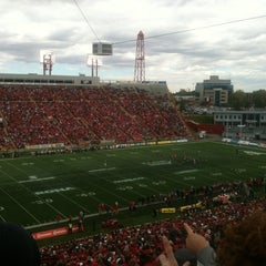 Photo taken at McMahon Stadium by Michelle S. on 9/3/2012
