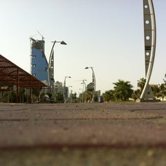 Photo taken at Al Corniche Walk | ممشى الكورنيش by Ahmed A. on 8/7/2012