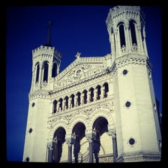 Photo taken at Basilique Notre-Dame de Fourvière by Romain C. on 4/29/2012